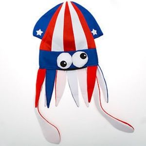 "4Th Of July Squid Hat Fun Silly 14"" H Patriotic"